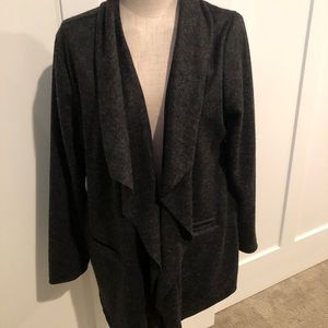 Lysse Wool Gray/Black Cardigan Jacket - sz XL